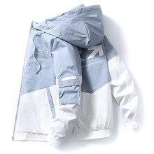 2020 الربيع والخريف ملابس الرجال سترة حجم 3XL أبلى معطف مقنع سليم سترة الرجال مقنعين سترة الموضة المطبوعة