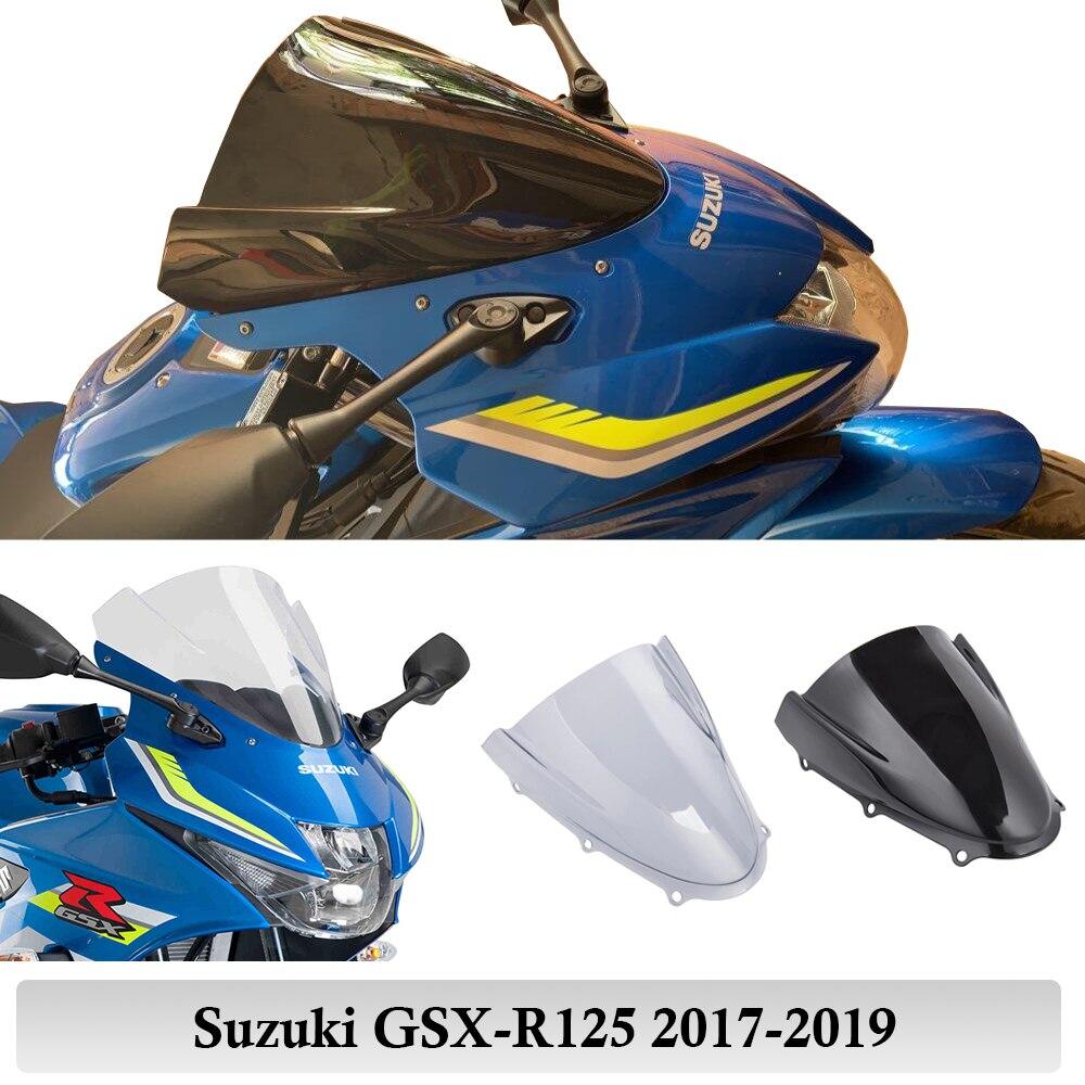 GSXR125 протектор ветрового стекла для Suzuki GSX-R125 GSXR 125 2017 2018 2019 Double BUbble Touring Racing Moto Flyscreen
