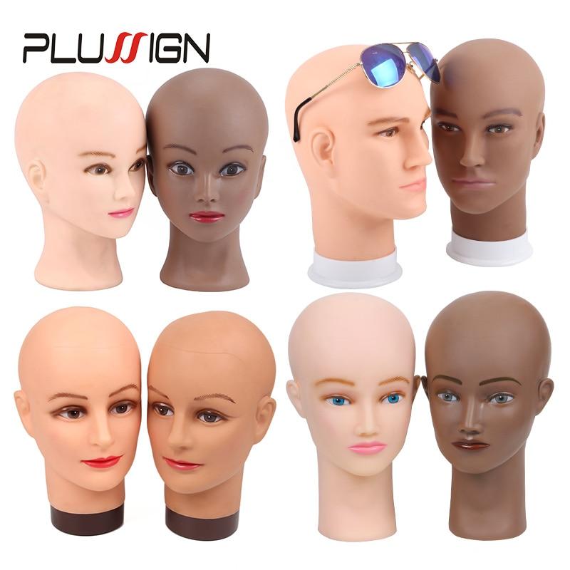 Plussign Wig Head Cheap Female Mannequin Head For Making Wigs And Display Wigs Manikin Head Dark Brown Begin 19-21Inch