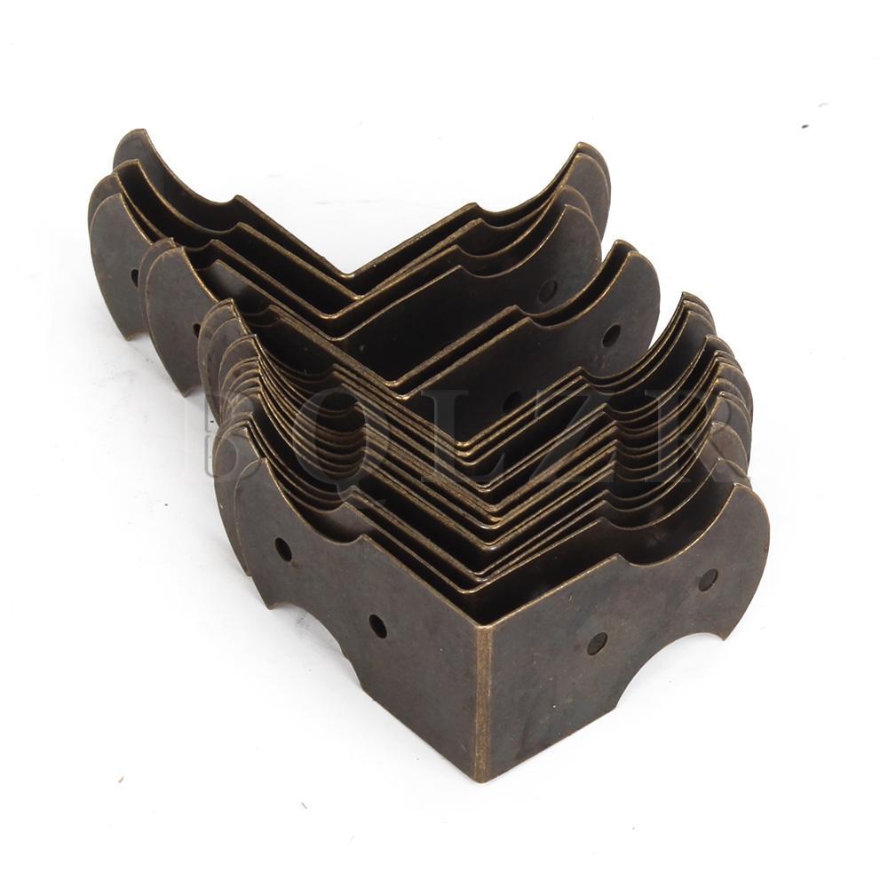 BQLZR 20 piezas 0,94x0,51 pulgadas caja de bronce Vintage guarda de esquina elegante cubierta de borde