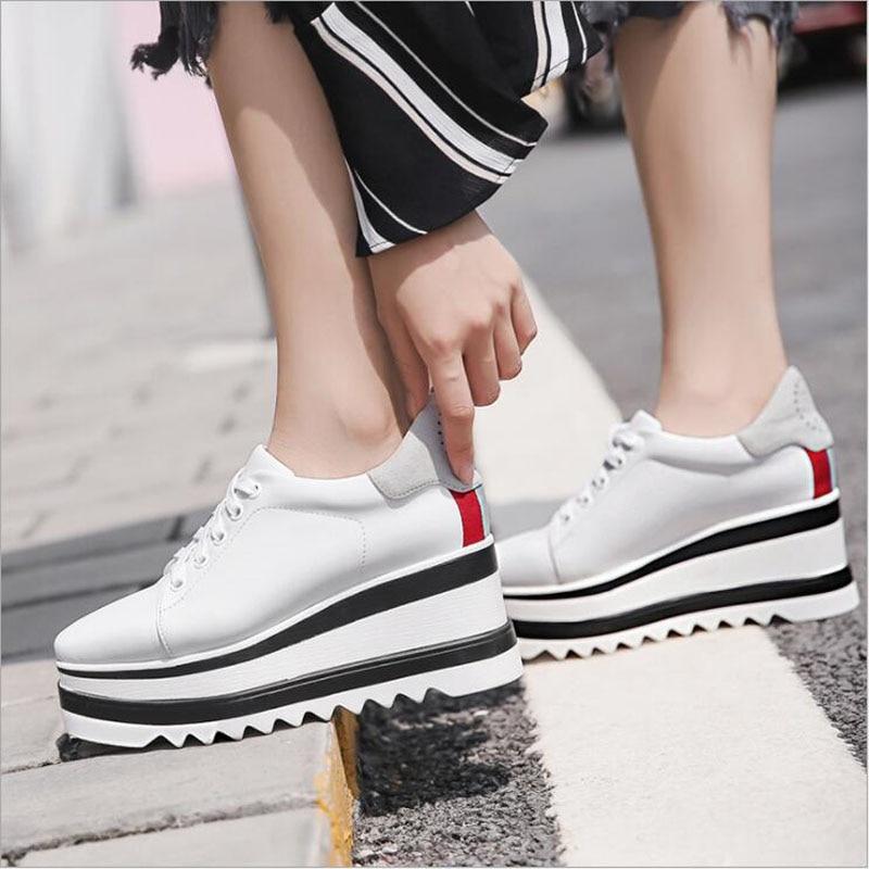 Timalina Women Casual Shoes Fashion Breathable Walking Mesh Lace Up Platform Vulcanized Shoes Sneakers Women Tenis Feminino