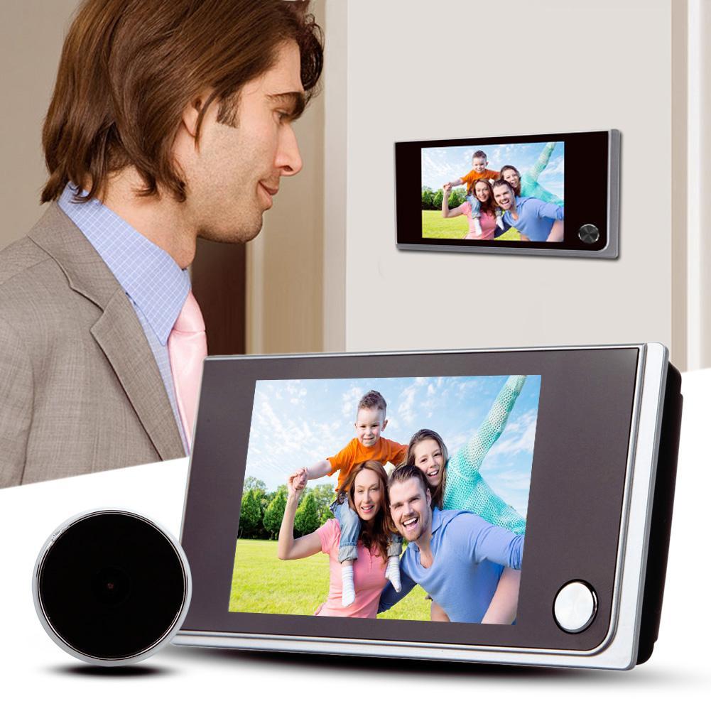 3.5 بوصة 120 درجة ثقب الباب المشاهد باب العين جرس الباب في الهواء الطلق جرس الباب كاميرا الباب الرقمية جرس الباب شاشة LCD ملونة