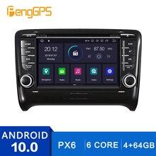 Lecteur CD DVD écran tactile Android 10.0 pour audi TT 2006-2012 GPS Navigation multimédia Headunit 4G + 64G Carplay DSP PX6 OBD2 WIFI