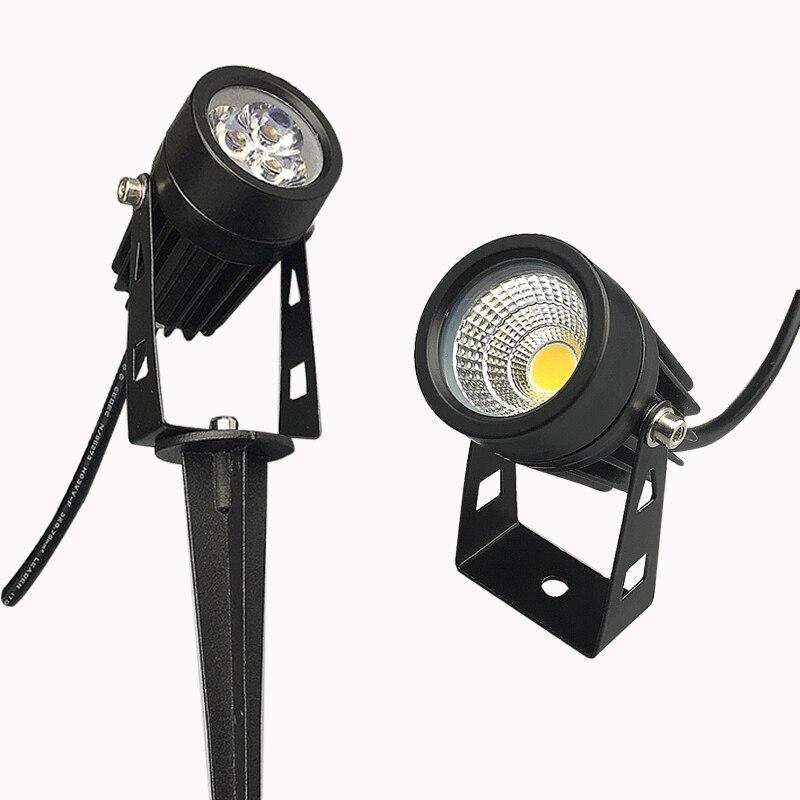 COB Garden lighting 3W 5W Outdoor Spike Lawn Lamp AC110V 220V DC12V Waterproof Lighting Led Light Garden Path Spotlights