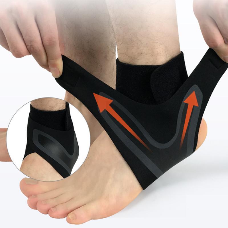1Pcs Ankle Support Brace,Elasticity Free Adjustment Protection Foot Bandage,Sprain Prevention Sport
