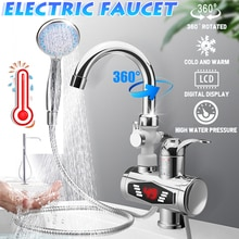 3000W Stainless Steel Water Heater Faucet Electric Tap With Shower Head 3S Fast Heating Instant Hot