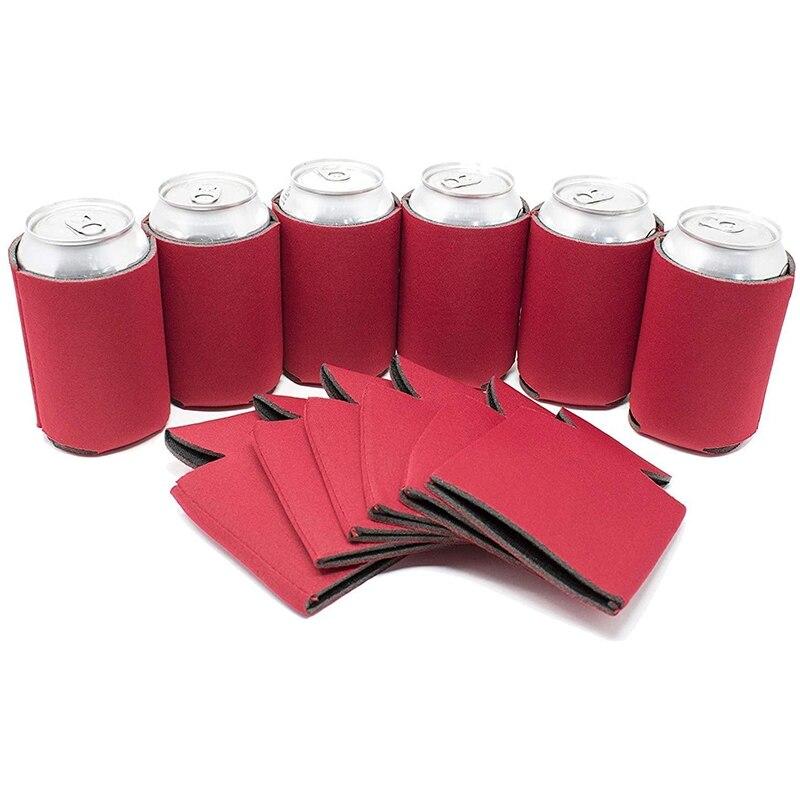 Botique-enfriador de latas de cerveza en blanco, Coolies de cubierta de Soda plegables a granel, divertidos favores de fiesta HTV
