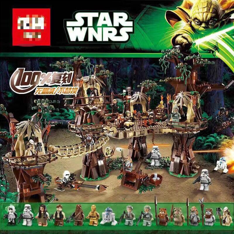 05047 juguetes Wars Compatible 10236 Ewok Village guerras conjunto de bloques de construcción de ladrillos juguetes para niños regalos de navidad