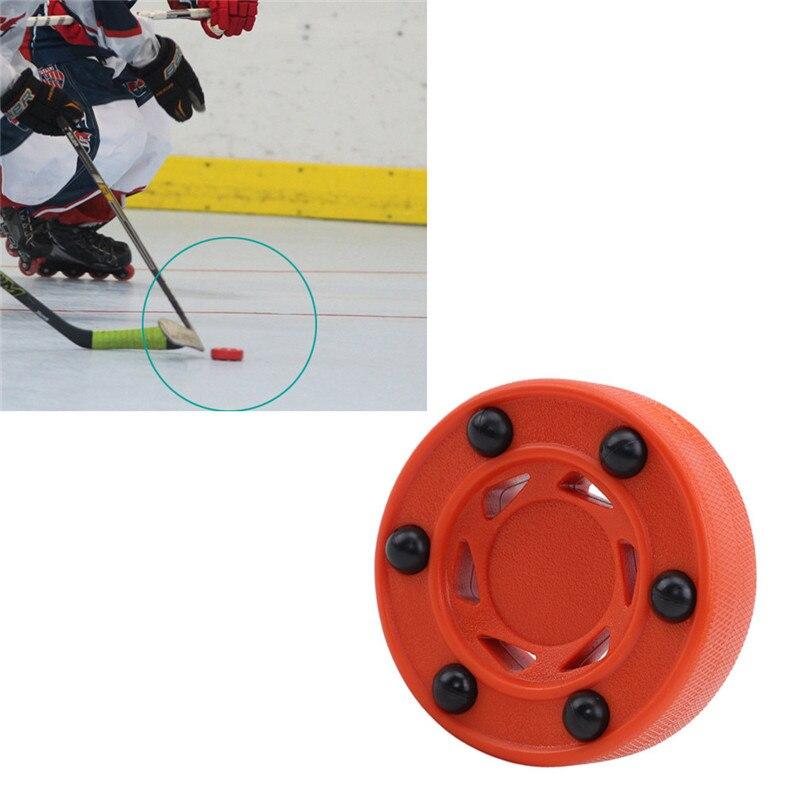 Hockey sobre ruedas Universal equilibrio de buena calidad Puck para entrenamiento de Hockey sobre ruedas de calle de hielo accesorios duraderos de alta densidad ABS