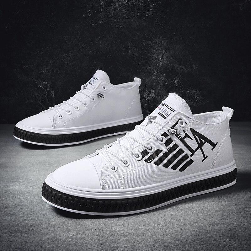 Brand Sneakers Men High Top Casual Shoes For Man Sneaker Trend Luminous Unisex Shoes Men Trend Flats