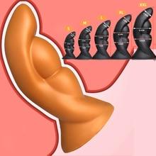 Huge Size Soft Silicone Huge Anal Beads Dilatador Anal Plug Big Butt Plug Prostata Massager Erotic Toys Sex Toys for Men Woman