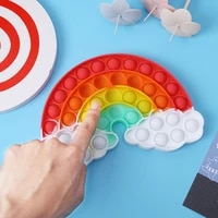 autism push bubble sensory toys tabletop puzzles anti stress toy early education finger exercise board squeezing vent toys