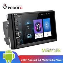 Podofo 2 Din Android 8,1 Auto-Multimedia-Player 7'' Touchscreen 2din GPS Spiegel Link WIFI Auto Radio Audio Bluetooth autoradio