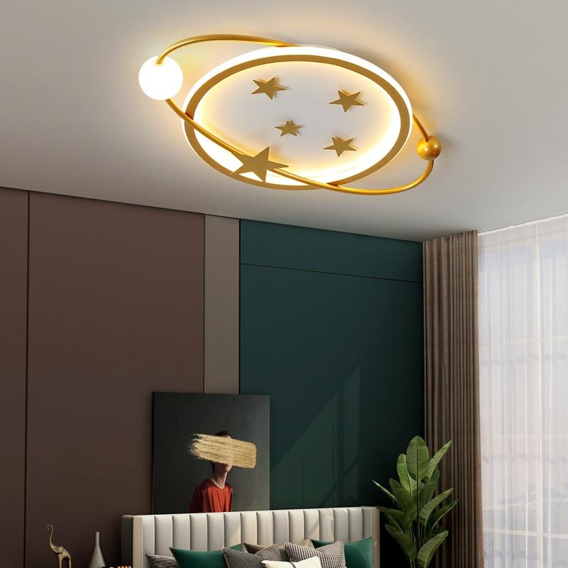 Gold/Black Acrylic Ceiling Light For Bedroom Living Room Coffee Bar Kitchen Villa Auditorium Foyer Gallery Indoor LED Fixtures
