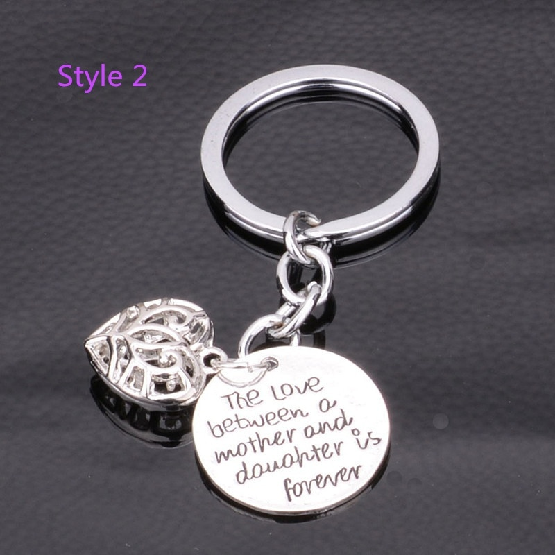 Fashion Family Love Bewteen Grandmother Granddaughter/Mother Daughter is Forever Heart Pendant Key Chain Ring Gifts  - buy with discount