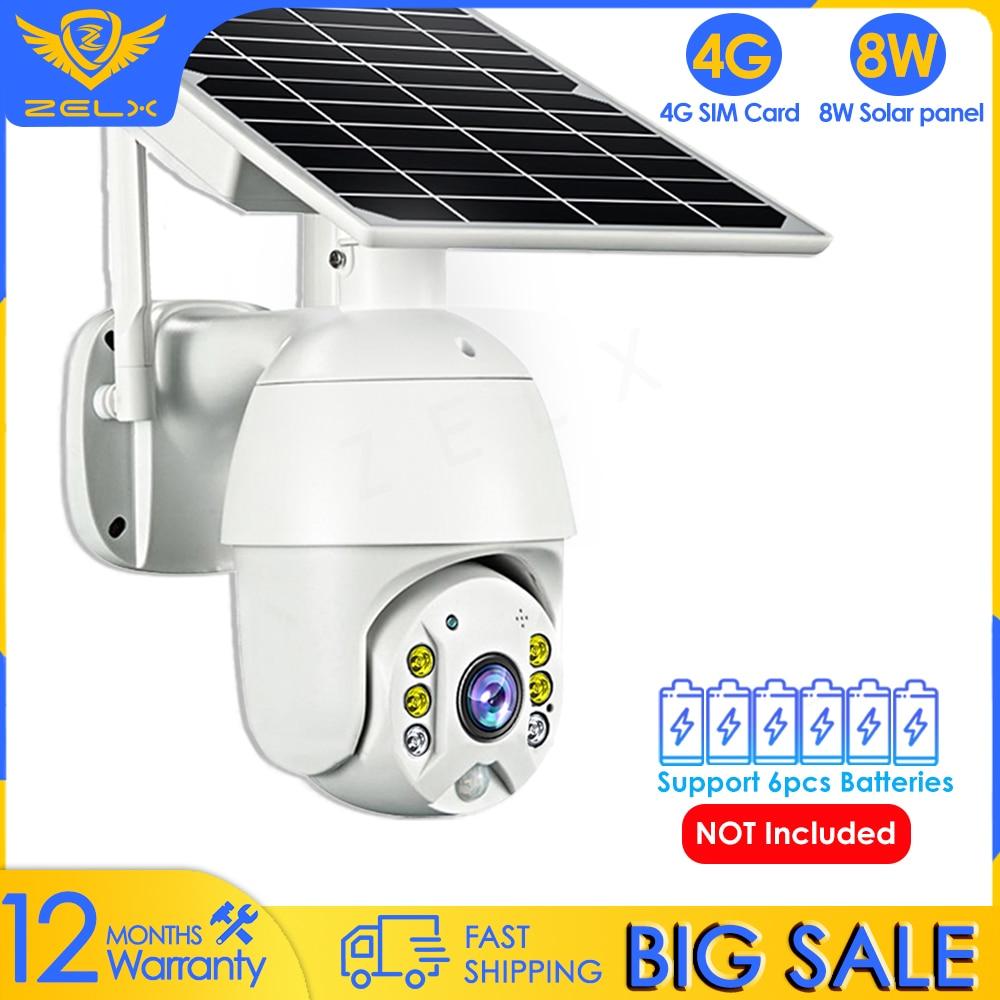 4G الشمسية IP كاميرا WIFI 1080P CCTV الأمن كاميرا باتري في الهواء الطلق فيديو مراقبة السيارات تتبع الذكية المنزل اللون ليلة Visio