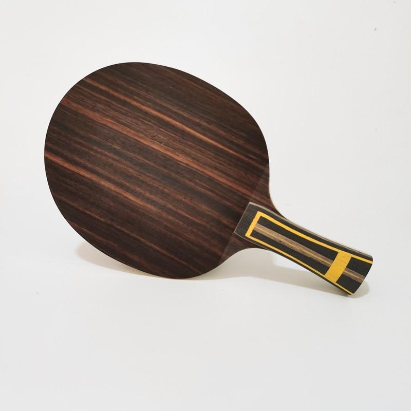 Raqueta de tenis de mesa ZLC de carbono de ébano violento de oro negro con ALC interior incorporada, raqueta de Ping Pong de dos caras, ataque rápido, alta elasticidad