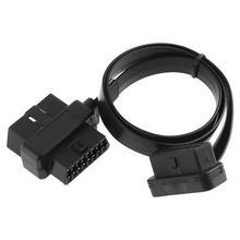 OBD II OBD2 90 градусов 16 контактный штекер двойной 16 контактный разъем Кабельный адаптер с 58 см линией для автомобиля диагностический инструмент