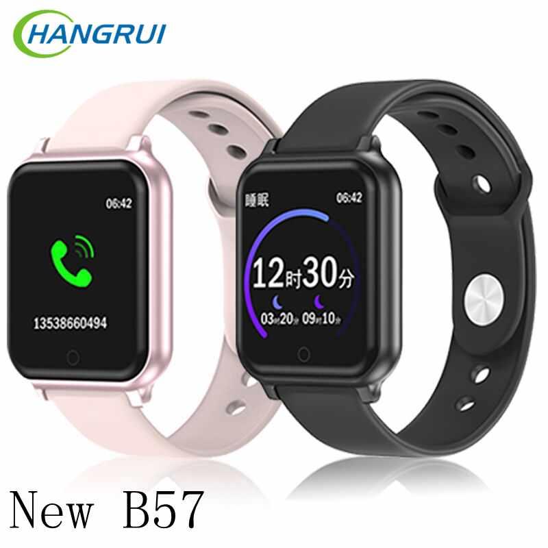 Reloj inteligente B58 deportivo resistente al agua para hombres y mujeres, reloj con frecuencia cardíaca, medición de la temperatura corporal y arterial, reloj inteligente para teléfono IOS y Android