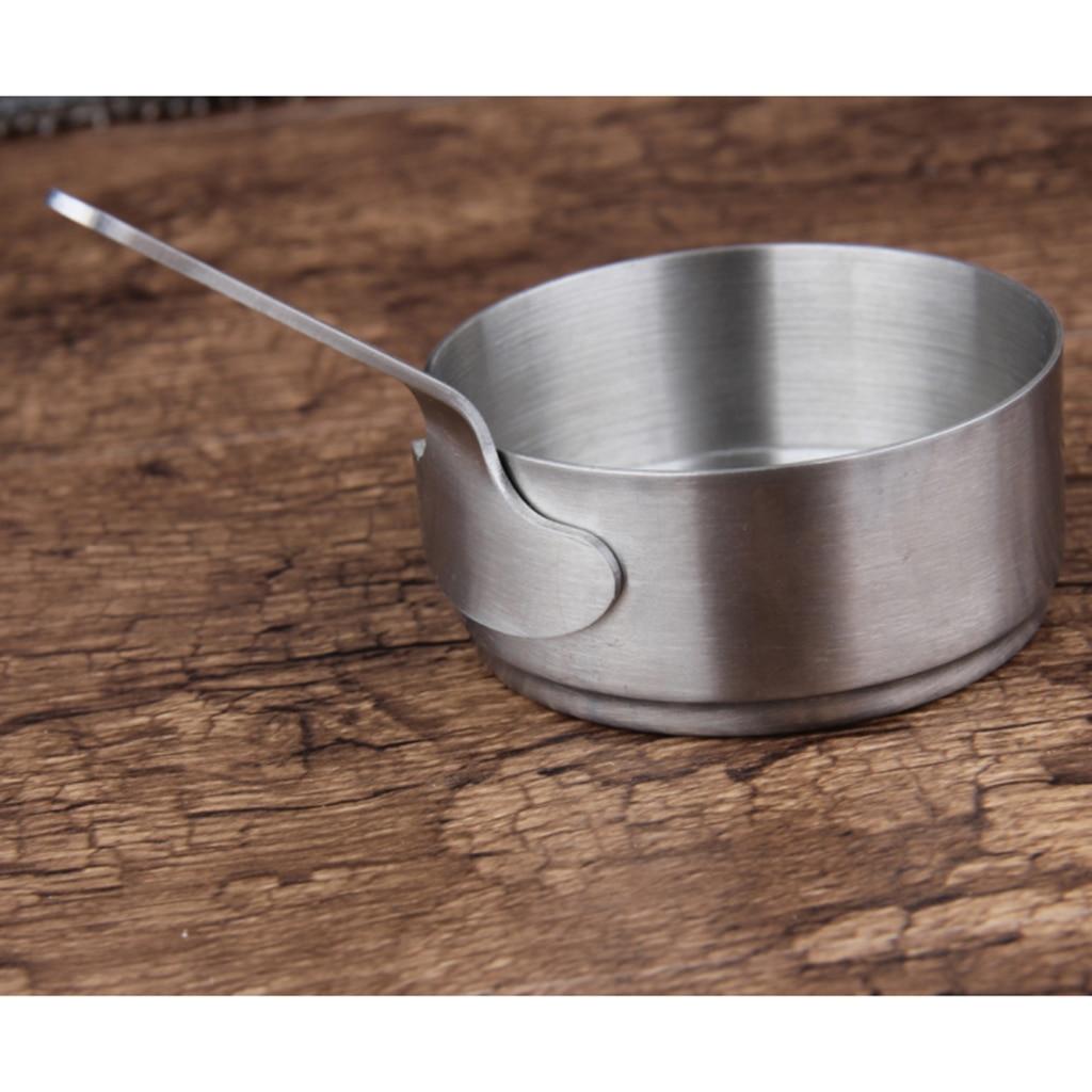 Cacerola de acero inoxidable 2 uds, olla pequeña para cocinar, cacerola para leche, calentador de café de 50ml