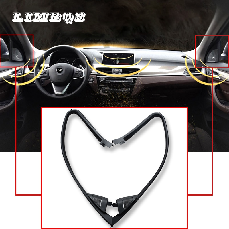Housses de haute qualité pour f30 BMW 3   Pour haut-parleurs de la série f30 BMW 3, tête de trompette audio, haut-parleur à aigus, matériel ABS avec panneau de garniture complet