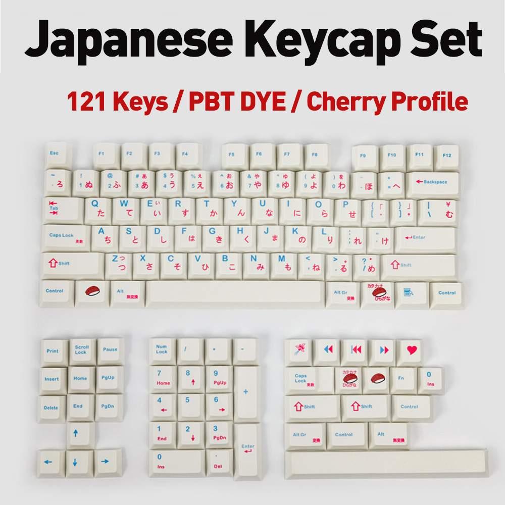 PBT السوشي كاي كابس اليابانية الكرز الشخصي الميكانيكية لوحة المفاتيح كاي كابس مجموعات صبغ تحت مع 7U مفتاح المسافة 2U التحول