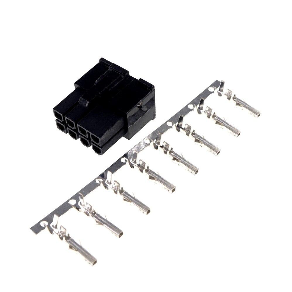 50 قطعة 8 أوضاع 8 دبوس 4.20 مللي متر ذكر مبيت ATX CPU 8 P PCI-E GPU موصل طاقة غلاف + 400 قطعة دبابيس اتصال طرفية
