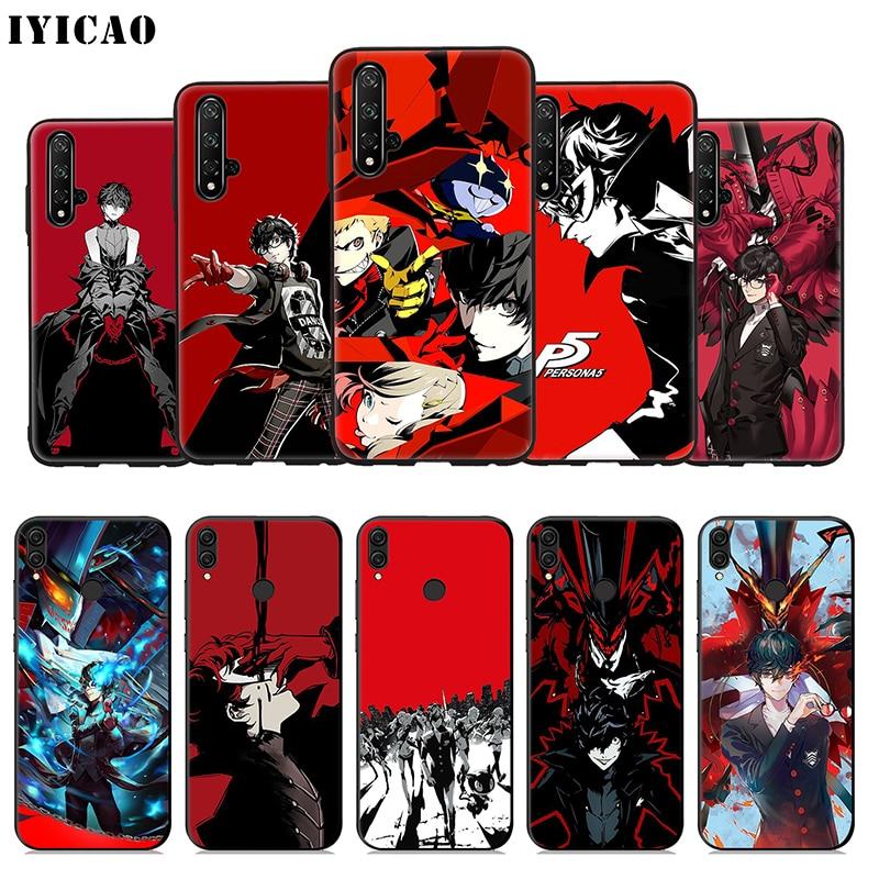 IYICAO P5 P Persona 5 suave funda para Huawei Honor 20 10 9X9 8X 8C 8 7X 7A 6A Lite Pro 20 nota 10 de la cubierta del teléfono
