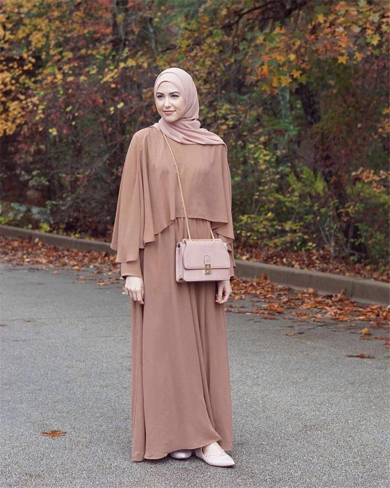 فستان كتان طويل للنساء المسلمات ، عباية ، قفطان ، شال ، حجاب ، ملابس تركية إسلامية ، دبي ، تركيا
