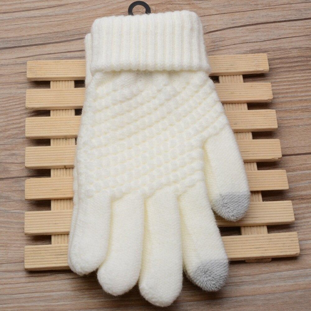 Женские и мужские многофункциональные вязаные, Зимние перчатки для экранов, мягкие теплые варежки для смартфонов iPhone, планшетов и ноутбуков, кашемир 21*9 см