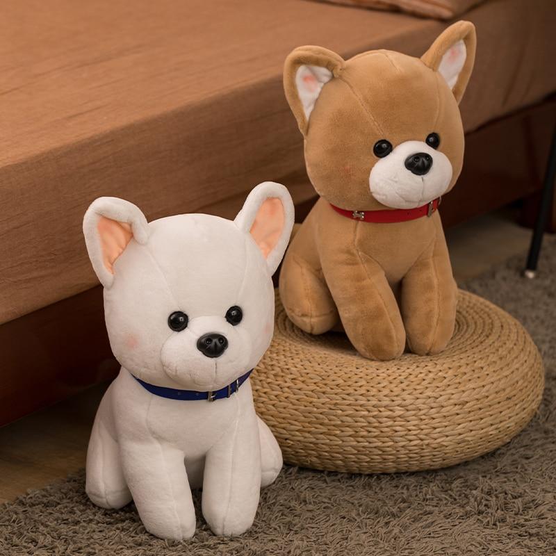 25-45cm cute simulation soft cute Shiba Inu plush doll standing pose puppy plush animal toy baby soothing doll creative home dec