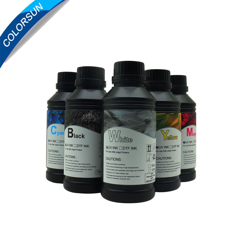 Colorsun 6*500 مللي الحبر UV LED ، 500 مللي تنظيف السائل لإبسون R1390 L1800 L805 DX3 DX4 DX6 DX7 DX5 رأس الطباعة طابعة UV
