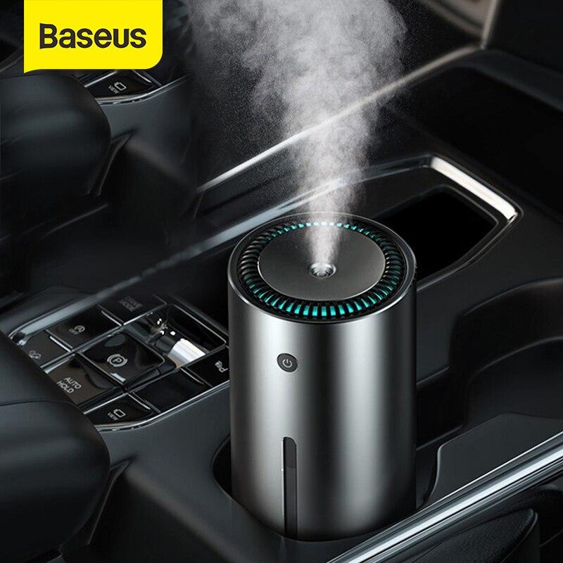 Baseus Car Air Humidifier Aluminium Alloy 300mL With LED Light For Auto Armo Home Office Accessories Air Humidifier for Car