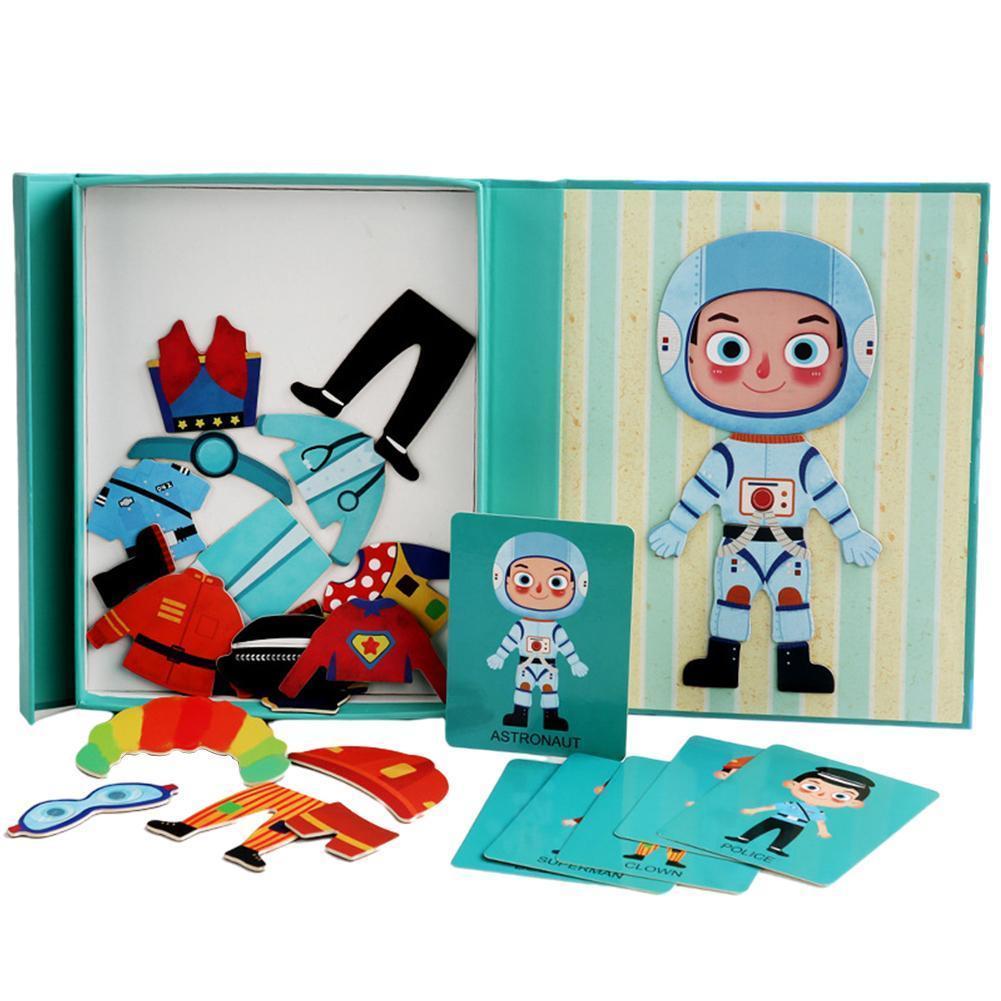 Детские развивающие игрушки Магнитные Головоломки, материалы Монтессори, магнитные строительные игрушки магнитные пазлы