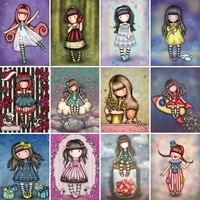 full drill square diamond painting cartoon dancing girl picture 5d diy diamond embroidery cross stitch gift kits craft kit