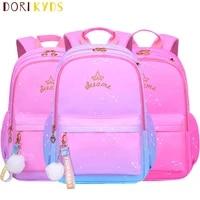dorikyds children schoolbags for girls satchel primary princess school backpack nylon waterproof kids mochila infantil