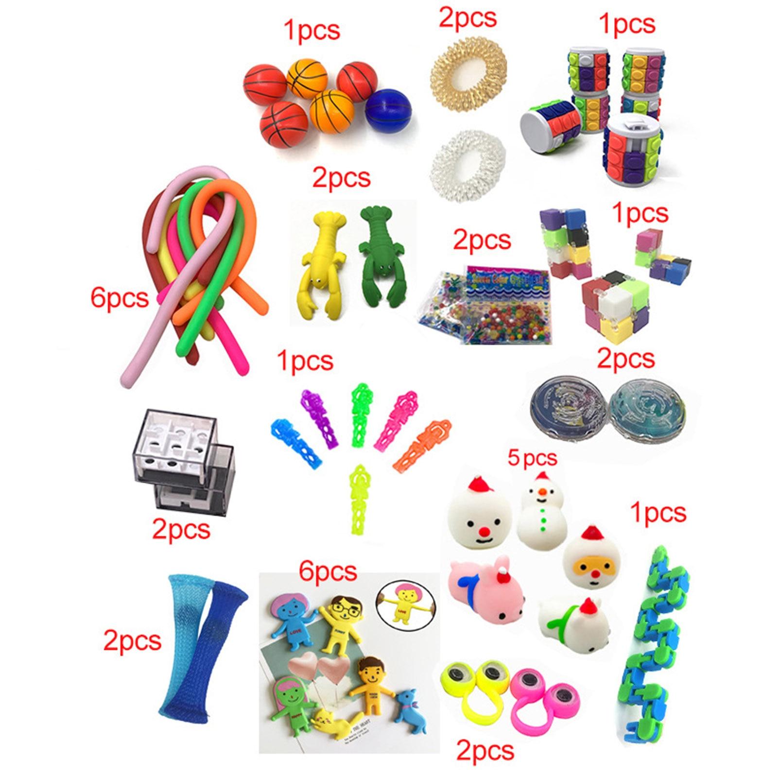 Sensory Fidget Toy Set 50 PCS Fidget Sensory Toys Set Autism Stress Relief Special Need Education Adult Tool To Relieve enlarge