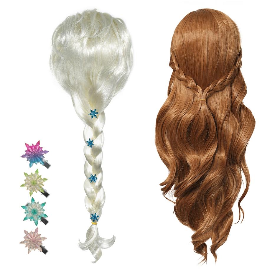 New Anna Elsa 2 Wig Princess Hair Bands Girls Party Fancy Accessories Princess Braid Headwear Christ