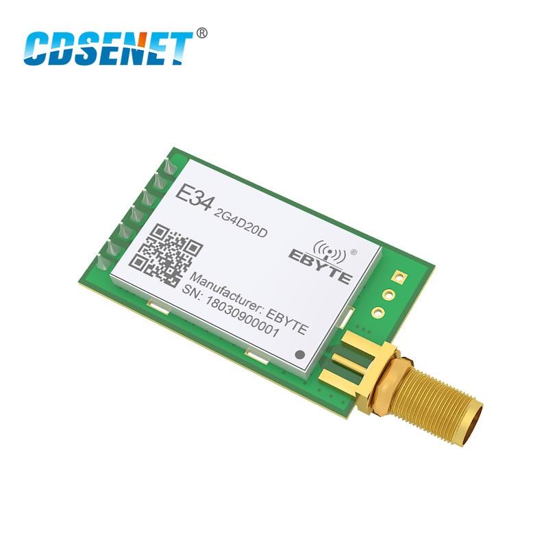 NRF24L01P 20dBm 2,4G UART модуль беспроводного приемопередатчика CDSENET E34-2G4D20D высокоскоростной передатчик DIP