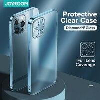 Роскошный прозрачный чехол для iPhone 12 11 Pro Max Жесткий ПК + ТПУ с защитой от желтых линз, прозрачный чехол для iPhone 11 12Mini