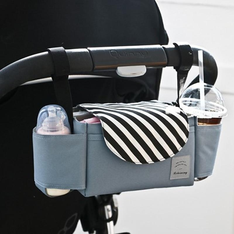 Baby Stroller Bag Nappy Diaper Transport Bag Hanging Basket Storage Organizer Travel Feeding Bottle Bag Stroller Accessories