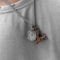 pixiu pendant necklace symbol wealth and good luck charm necklace feng shui faith amulet accessories men women tibetan necklaces