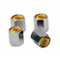 4pcslot car styling sliver wheel tire accessories valve stems covers flag of spain for seat leon ibiza exeo alhambra