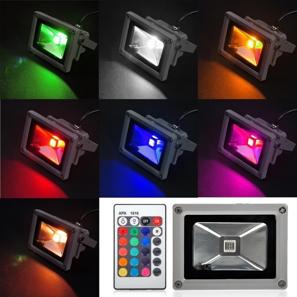 10pcs/lot 85-265V Waterproof Remote Control 10W 20W 30W 50W RGB LED Cold/Warm white Floodlight Outdoor decaration lighting enlarge