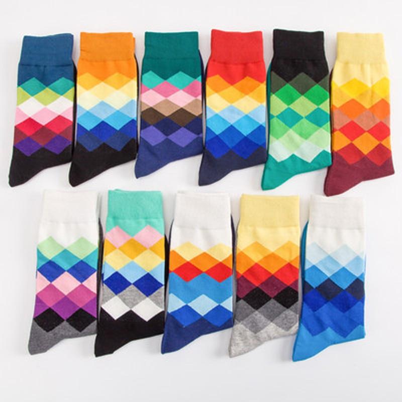 Мужские носки, цветные мужские носки со стразами, мужские хлопковые носки