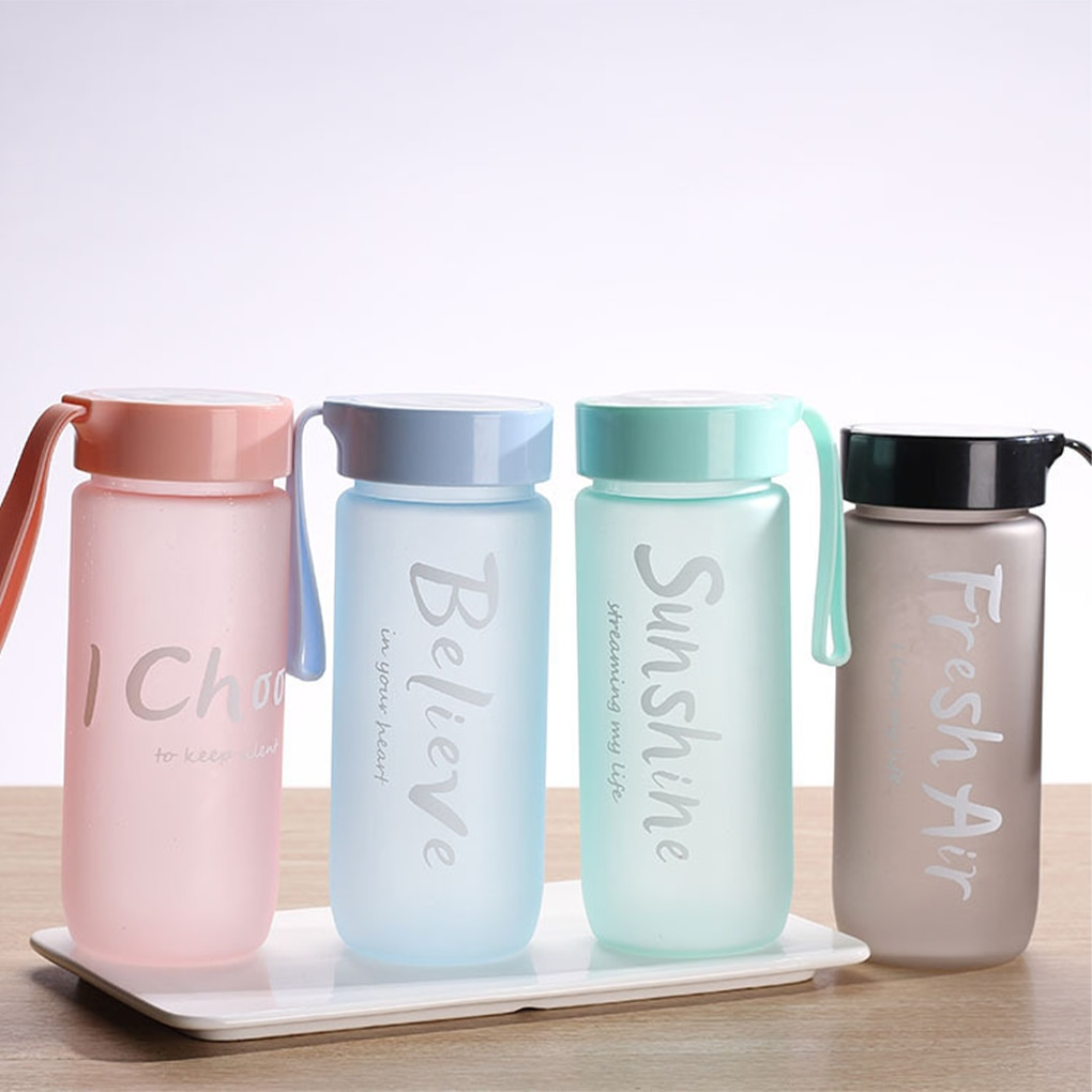 550ml Simple Plastic Cup Outdoor Sports Portable Tea Water Cup Adult Student Large-capacity Water Bo