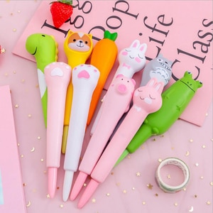 Kawaii Foam Rubber Gel Pen Soft Cute Creative Slow Rebound Gel Pen Creative Novelty toys Kid Gift