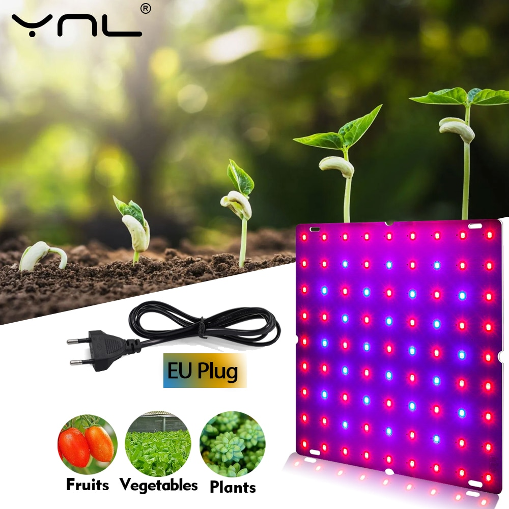 grow tent box for indoor hydroponics greenhouse plant lighting tents 60 80 100 cm growing tent LED Grow Light Full Spectrum Phyto Lamp For Plants 25W 45W AC 110V 220V Indoor Greenhouse Hydroponics Tent Plant Growth Lighting