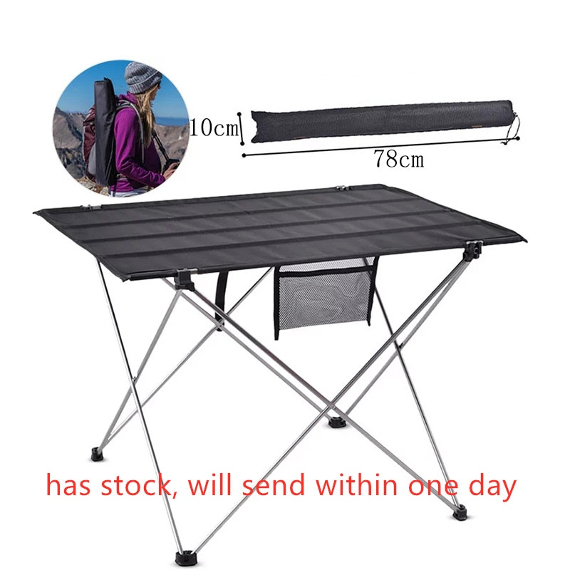 Портативный складной стол, уличная мебель, компьютерные столы для кровати и пикника, ульсветильник складной стол из алюминиевого сплава 6061