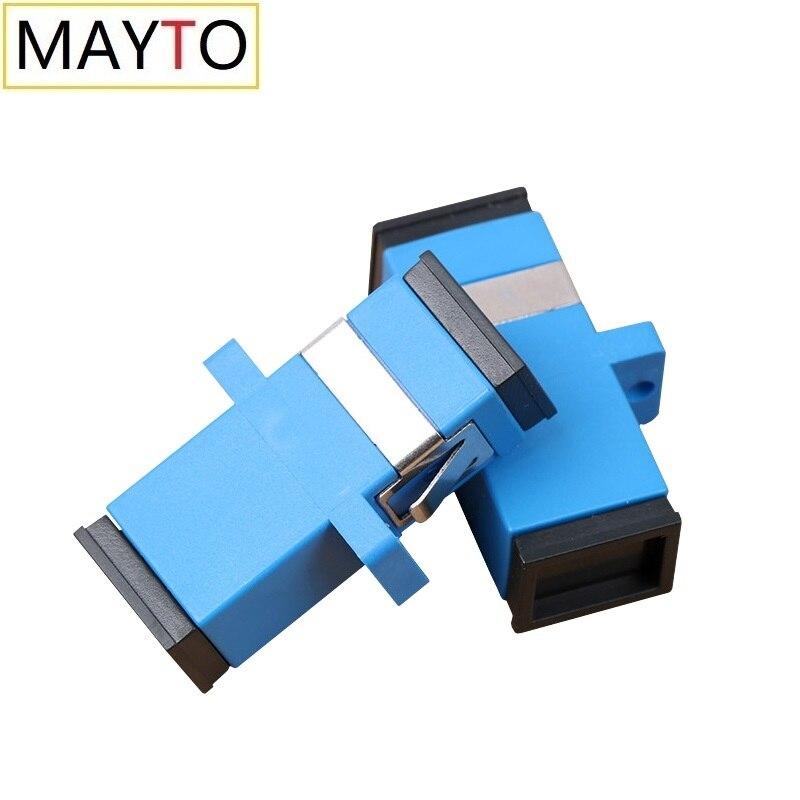 Оптовая продажа, оптовая продажа, 50 шт., волоконно-оптический коннектор SC UPC, адаптер, фланец, Одномодовый симплексный соединитель